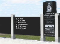 Canada's Bomber Command memorial in Nanton Alberta