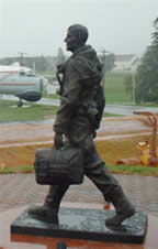 bronze airmans statue